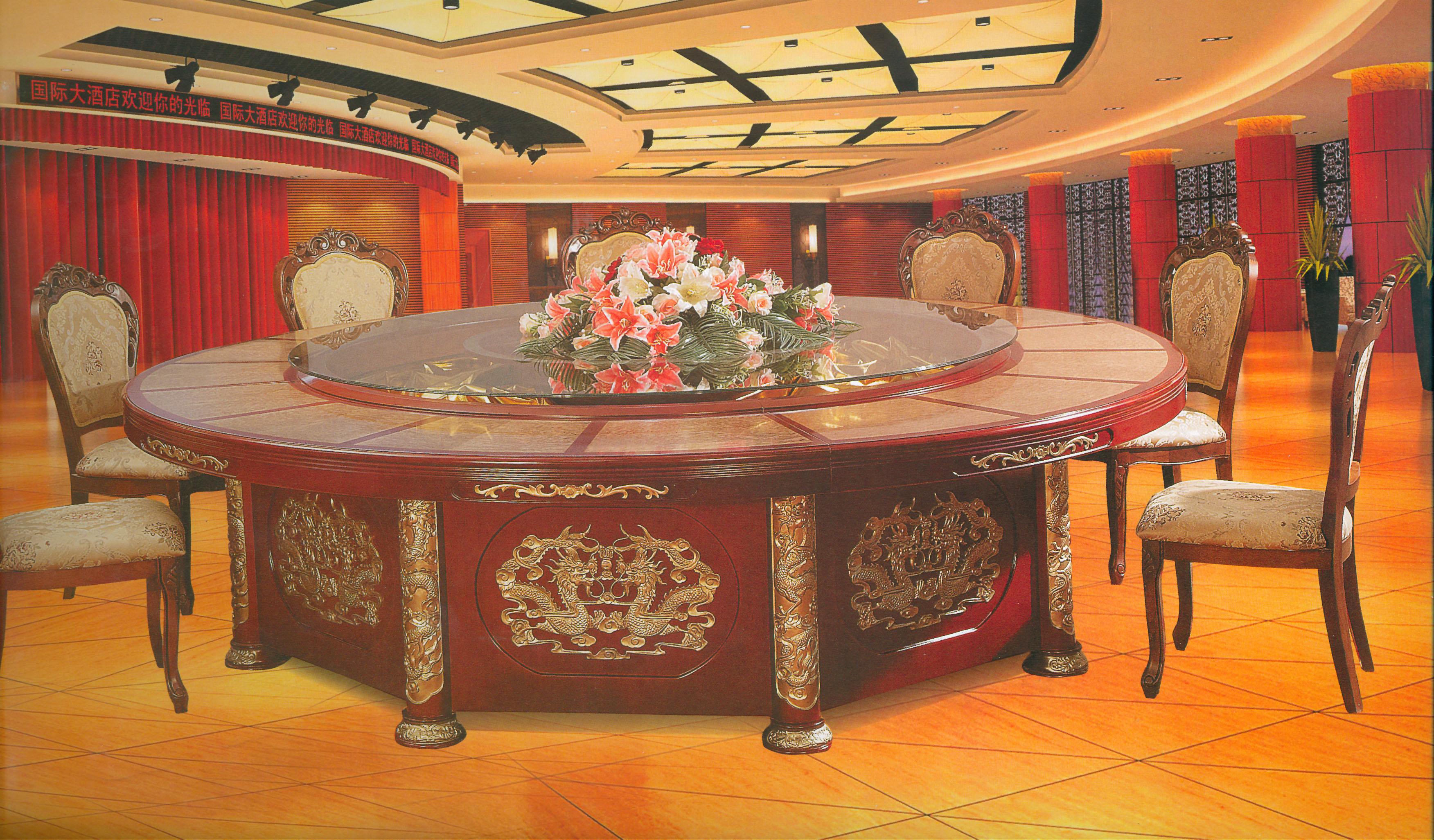 临夏电动餐桌-兰州质量有保证的电动餐桌,就在精诚集雅酒店家具