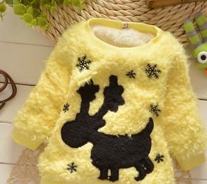 加厚冬款女童毛毛衣 羊羔毛淑女韩版打底衫