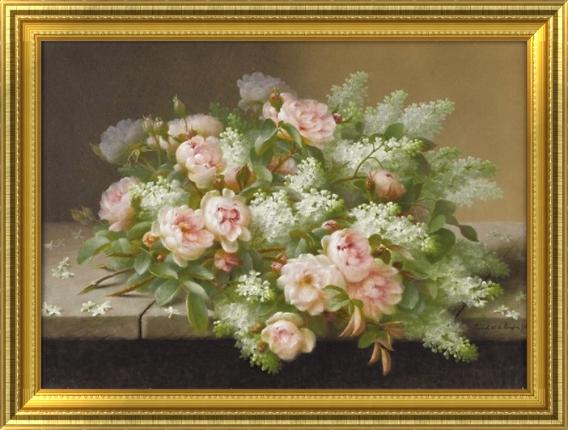 欧式花卉油画装饰画 客厅装饰画