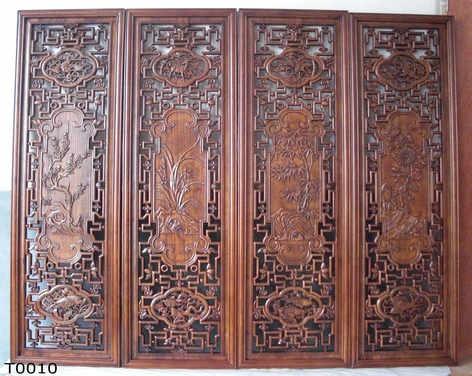 【行业典范】烟台中式雕花隔断 烟台木雕工艺