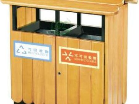 木质公园垃圾桶 南宁厂家大量现货供应