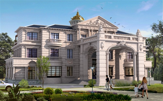 现代别墅外观-泓泰达(泉州)装饰工程有限公司