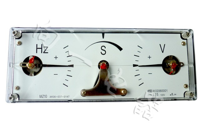 c)按仪表所附接线图,用导线连接在待并发电机