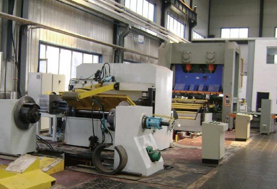 高强度碳钢板 铝圆片开卷落料生产线 铝圆片自动冲压设备