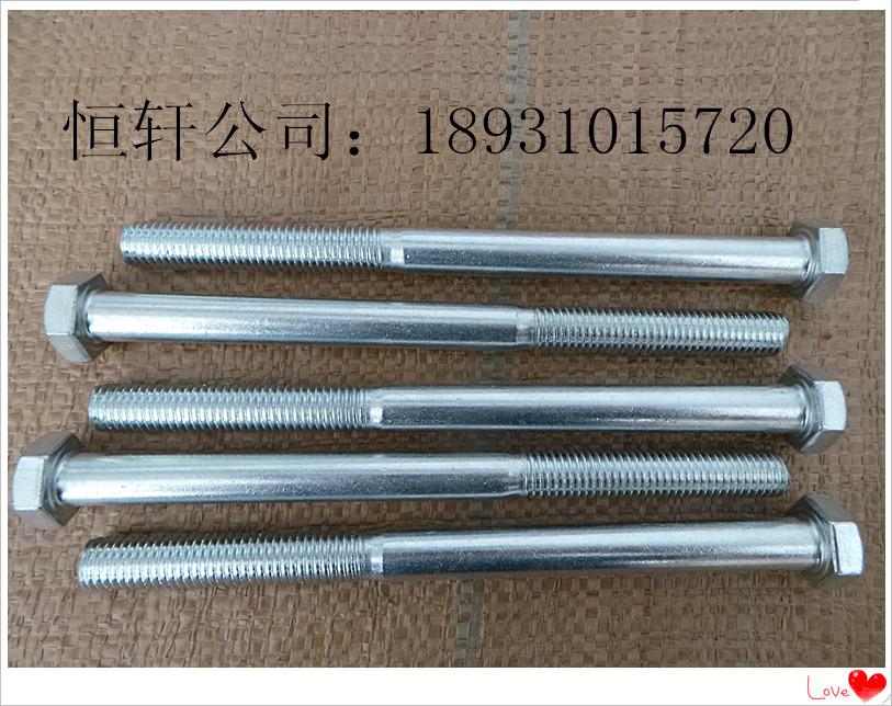 GB30镀锌外六角螺栓 4.8级镀锌外六角螺栓