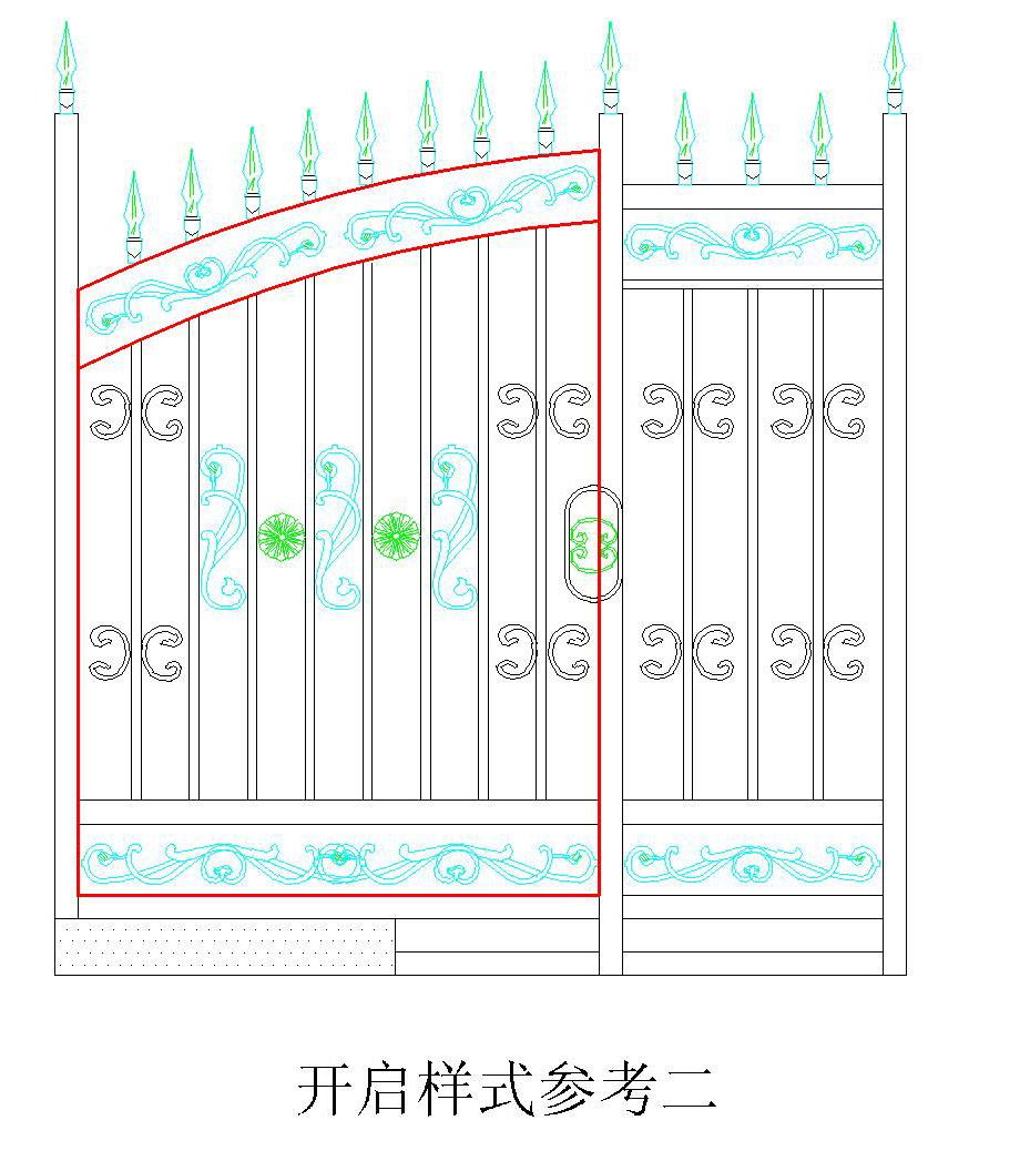 青岛欧式别墅铁艺大门-258.com企业服务平台