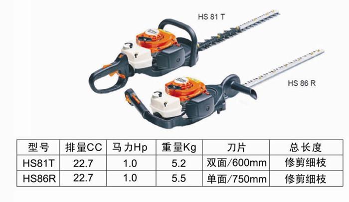 东莞HS81T双刃绿篱机哪家好 优质的HS81T双刃绿篱机