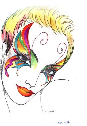 彩妆商业展示设计手绘图
