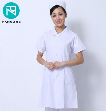 庞哲白色护士服短袖 药店工作服护士服 医生工作服