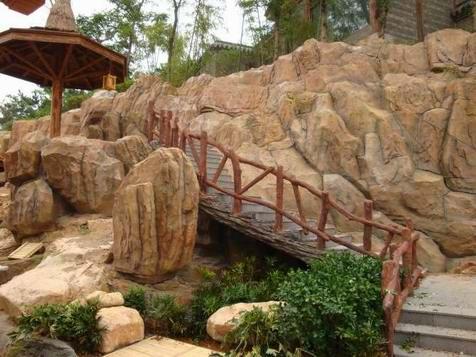 游乐园假山
