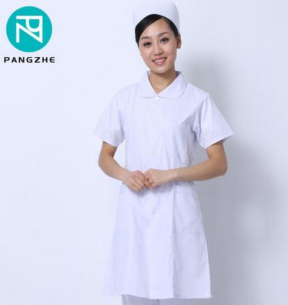 庞哲白色护士服短袖药店工作服护士服医院医生工作服