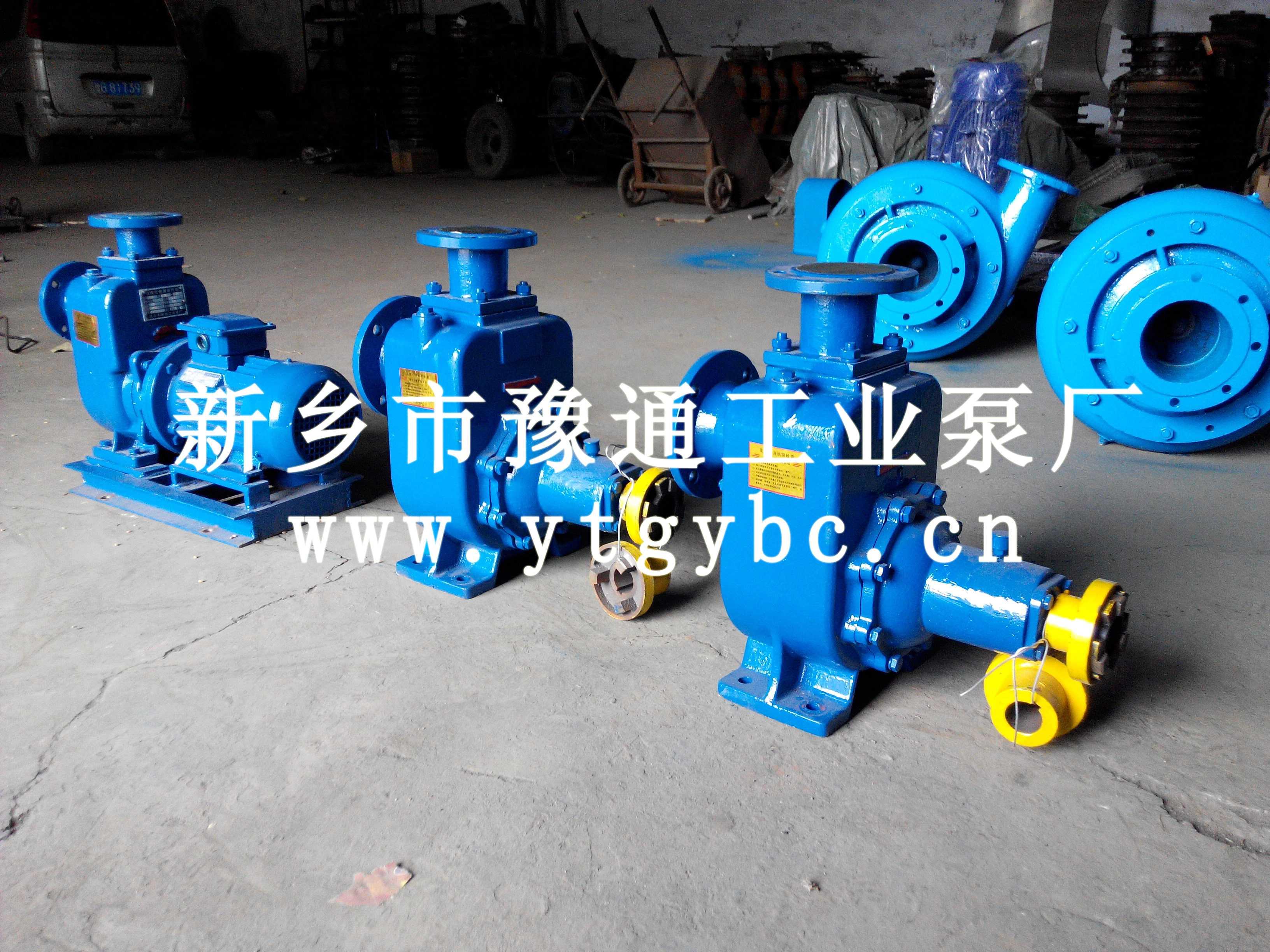 豫通工業泵廠ZW自吸式無堵塞排污泵制作商_河南新鄉ZW自吸式排污泵
