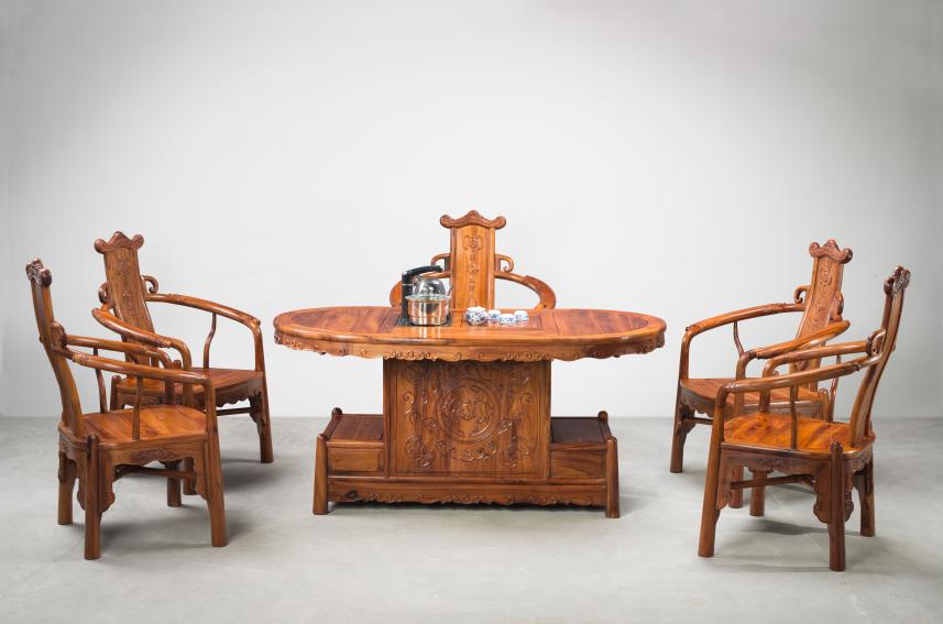 西北红木茶台 甘肃茶台 茶楼家具 红木茶台