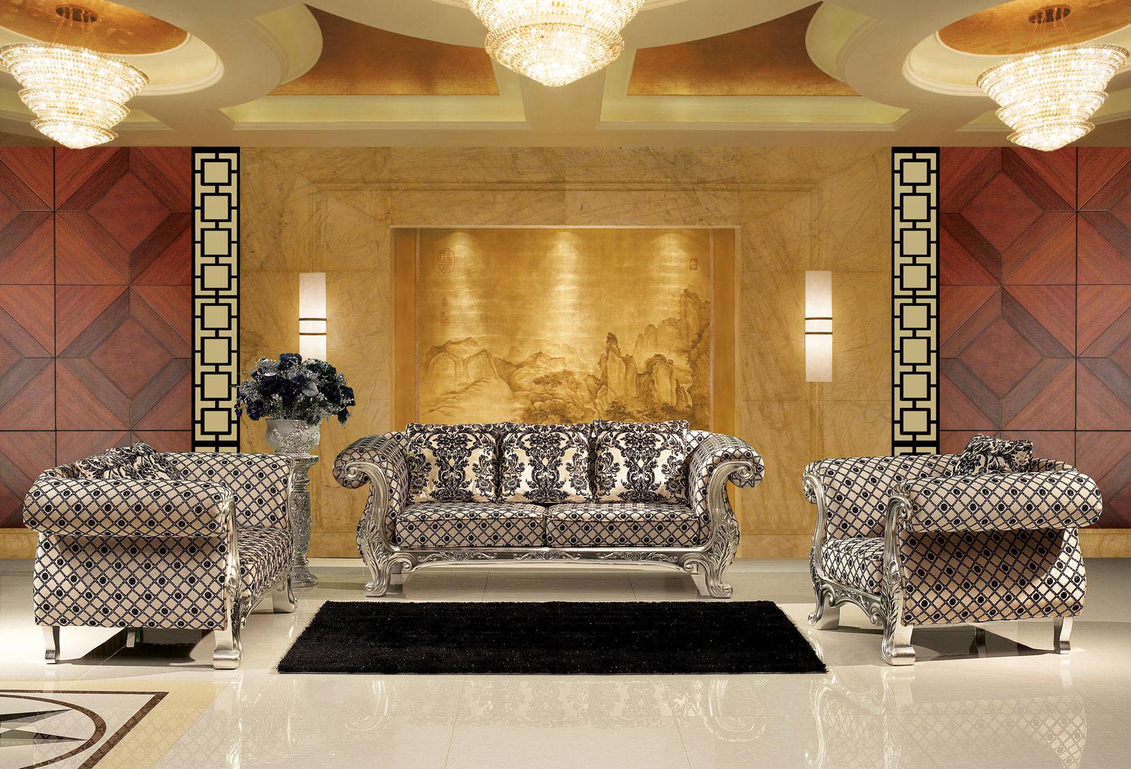 甘肃实木沙发 西北皮沙发 酒店家具 实木皮沙发