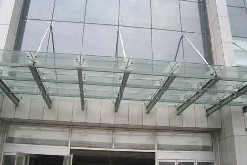 专业制作加工地下车库玻璃雨棚