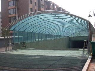 专业制作加工地下车库阳光板雨棚