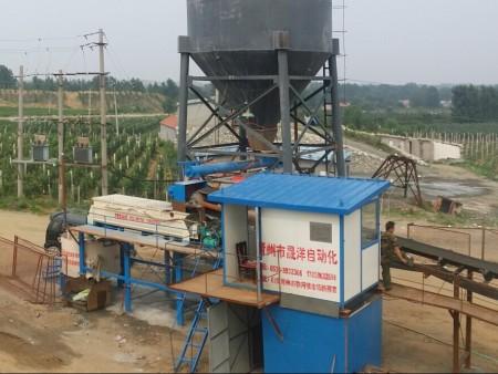 礦井充填站在青島某鐵礦實際應用