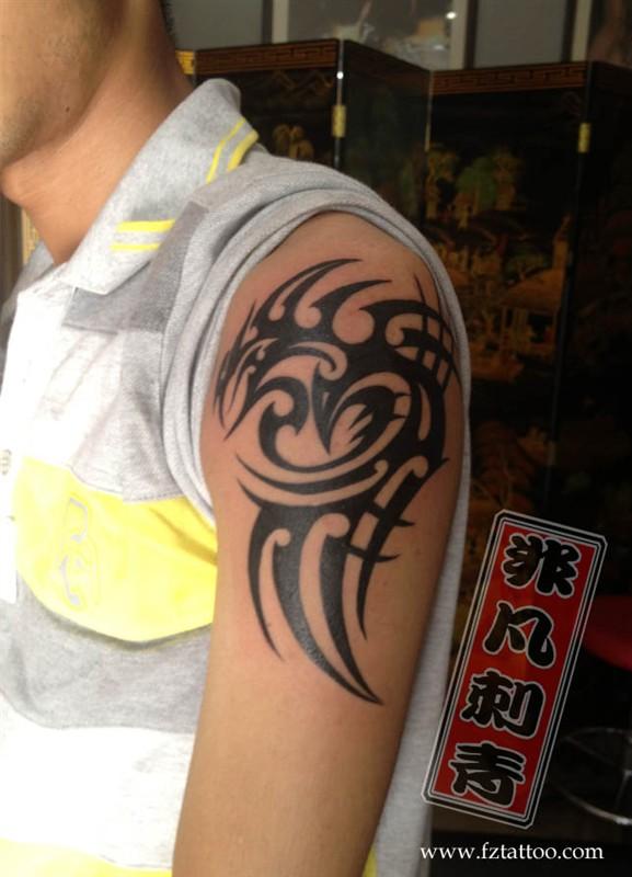 图腾纹身图案_手臂图腾纹身_手臂图腾纹身手稿_纹身小图案男手臂图腾