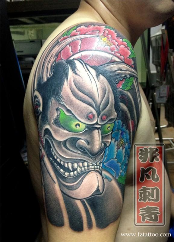 福州纹身 牡丹般若纹身