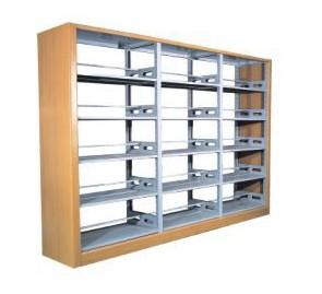 南宁哪里有钢木书架_广西品牌图书馆书架批发出售