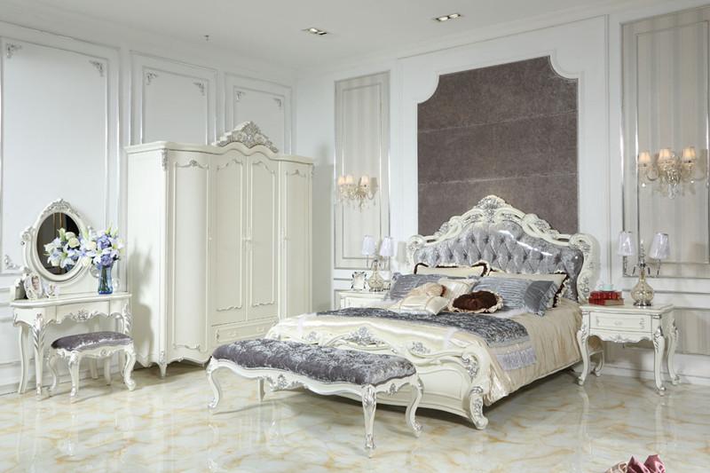 bt806法式新古典双人床 法式新古典家具供应商图片