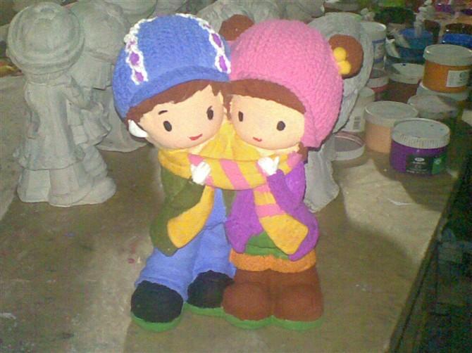 情侣石膏娃娃