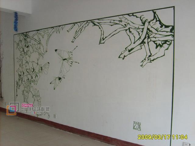 展板背景素材手绘