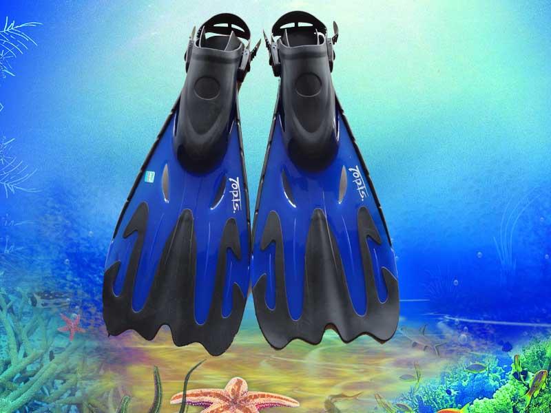 烟台潜水器材--脚蹼蓝