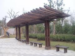 东营防腐木定做,【供销】山东耐用的木质花架