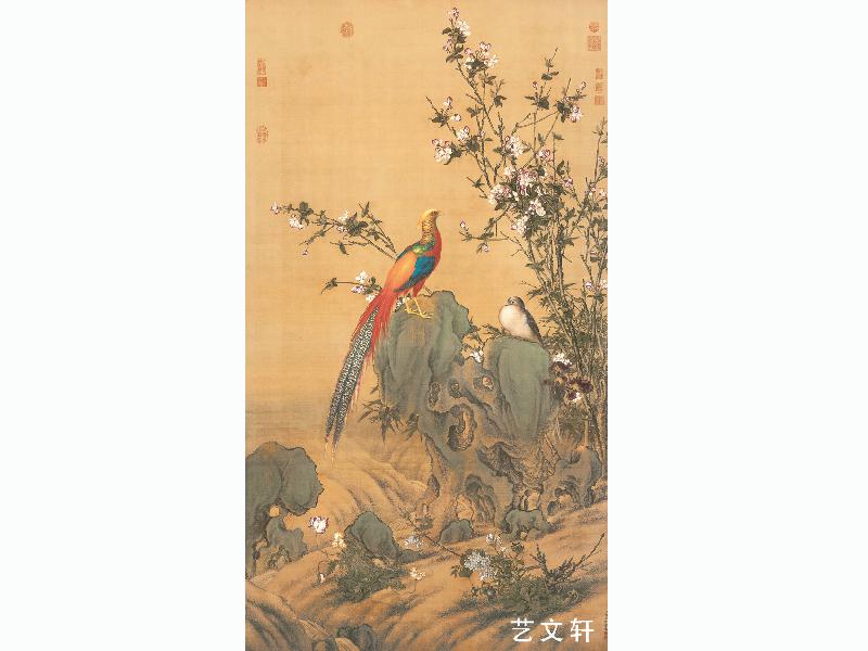 T038 清 郎士宁 锦春图