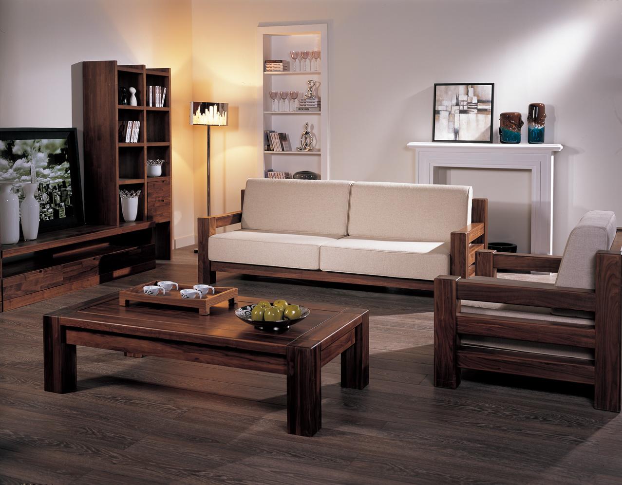 买别致的纯实木沙发,首要选择功吉天昊 专业的优质的图片