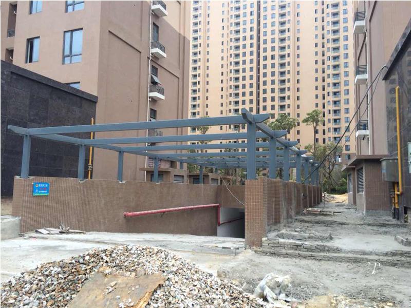 钢结构花架造型花圃