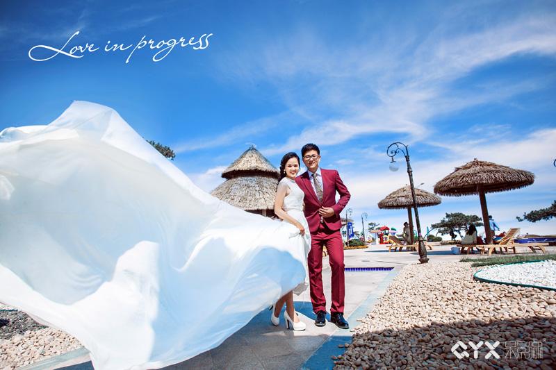 婚纱摄影-乐乐的幸福海滩婚照