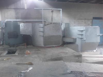 热风式连续熔铝炉