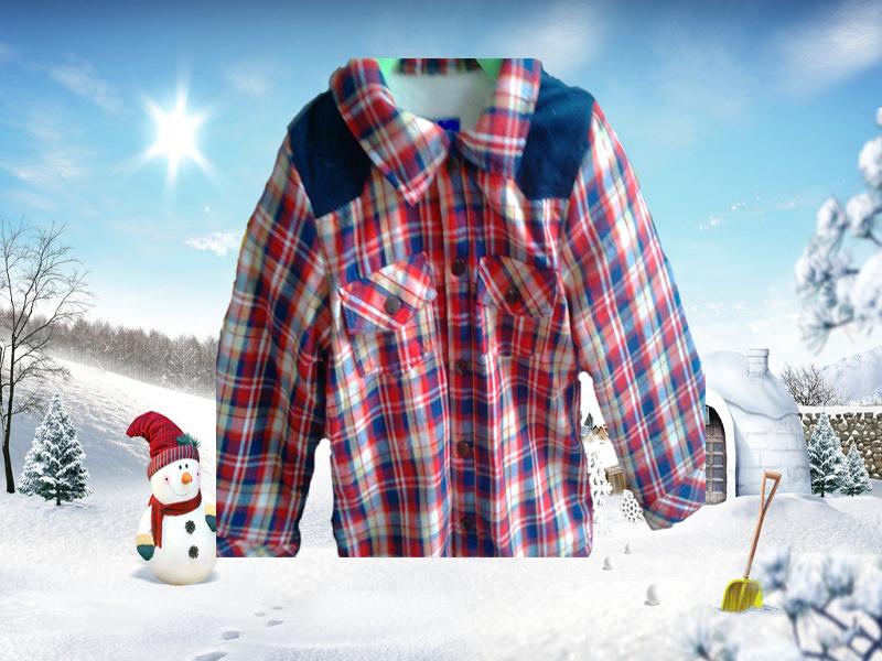 烟台童装、烟台外贸童装-通用款2014潮新款韩版羊羔绒棉衬衣