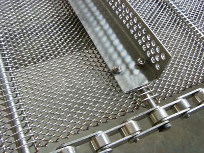 抢手的挡板菱形网带价格怎么样:优质挡板钢制菱形网带