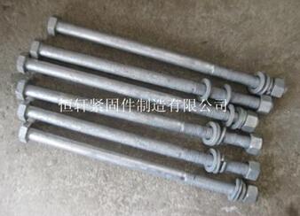加长高强度螺栓 缩梗螺栓 16X440 发黑半扣 袋装