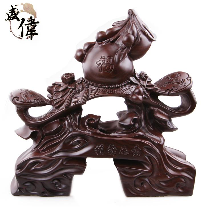 首页 产品展示 盛伟皮黑木雕工艺福禄如意木制工艺品摆件创意礼品精品