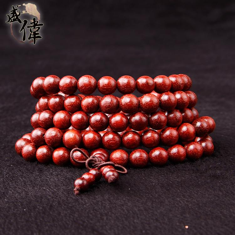 赞比亚血檀手链木质佛珠手串同料顺纹