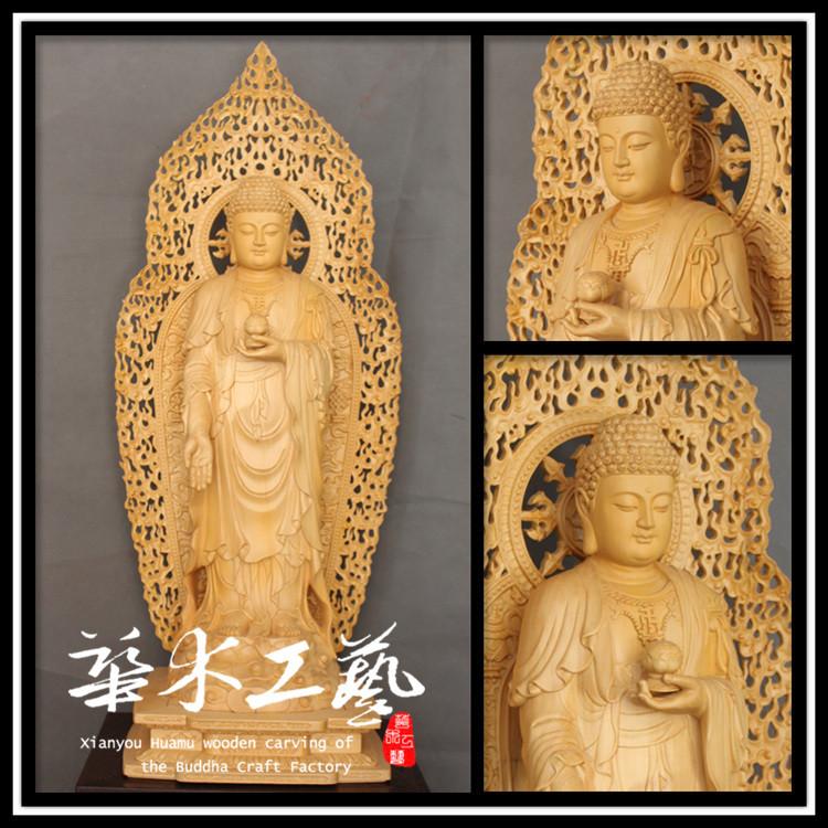 手工雕刻描金佛像 释迦牟尼佛像批发直销