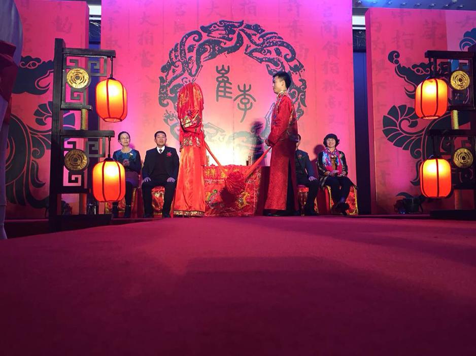 传统中式婚礼,古朴火热