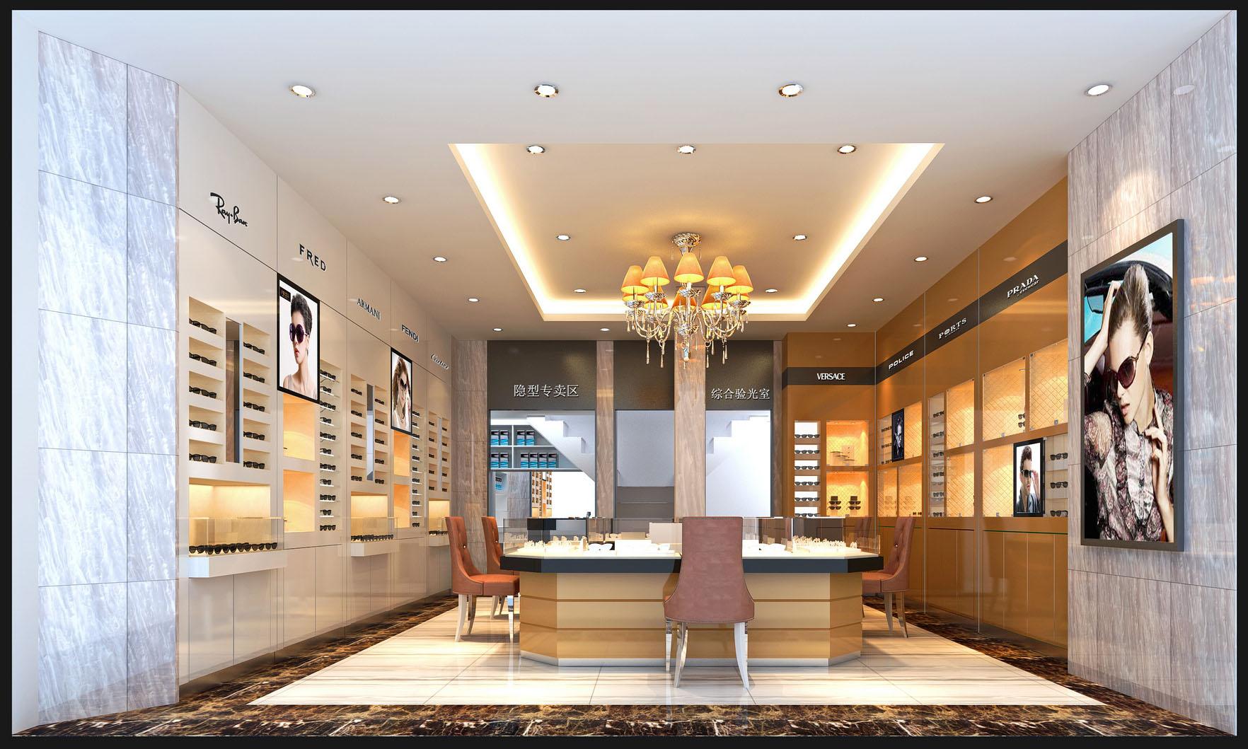 专业眼镜店装修公司,店面装修公司,专业烤漆柜台工厂