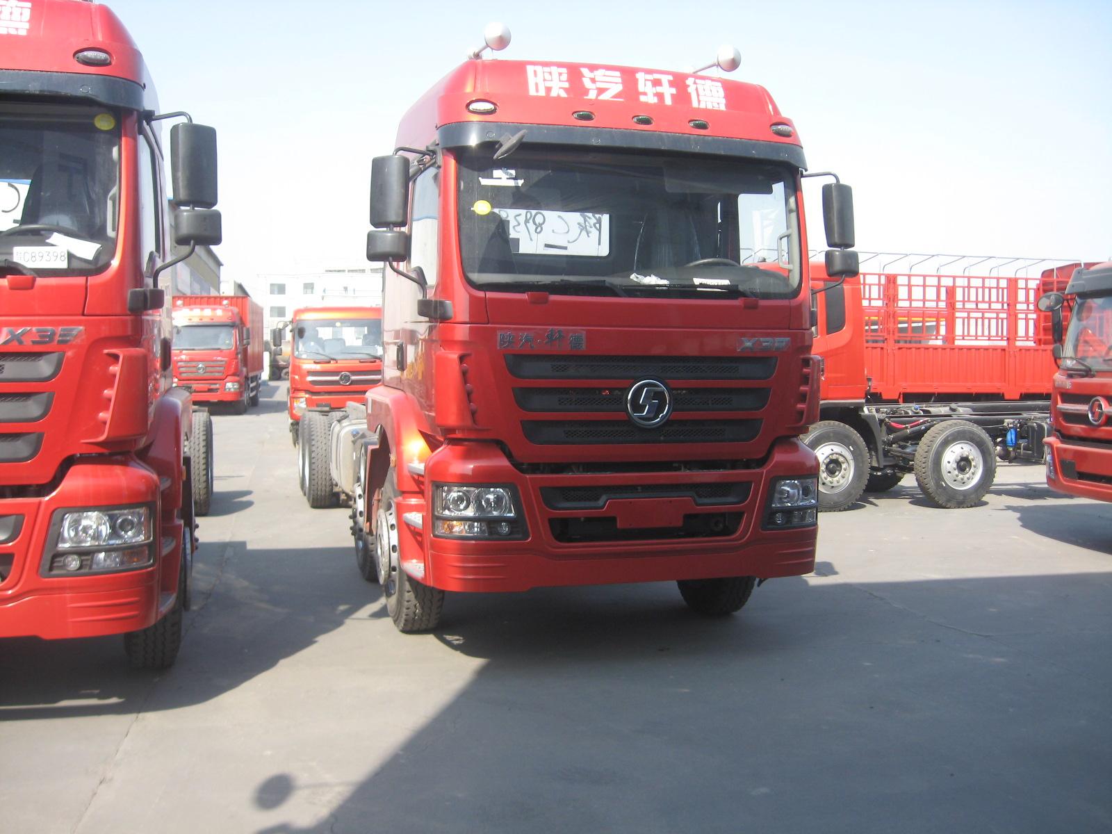 陕汽轩德X3系9.6米载货车省油之王前四后八高顶双卧