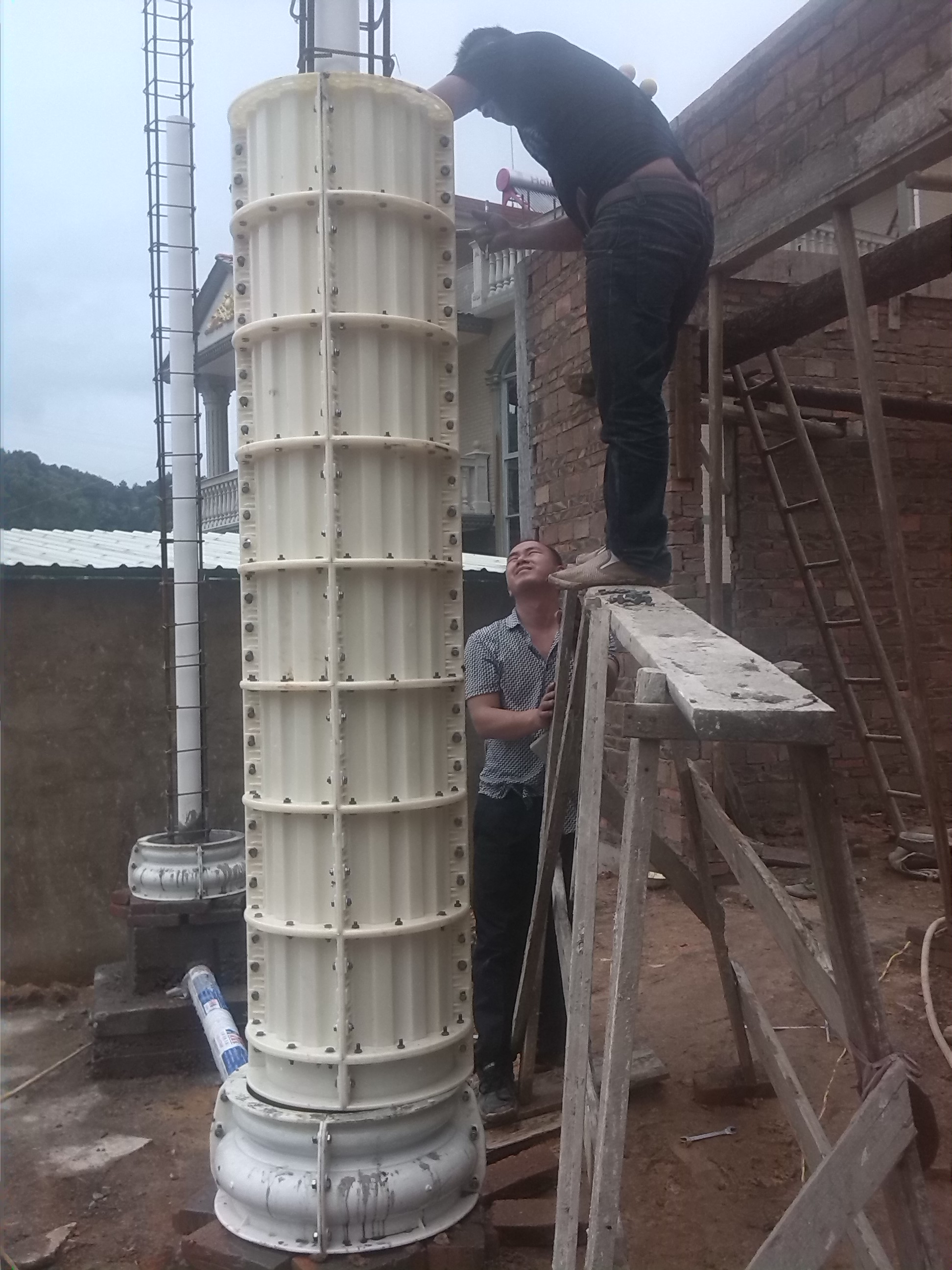 grc构件模具,屋檐线条模具,欧式罗马柱模具【汇艺】 水泥围栏模具图片