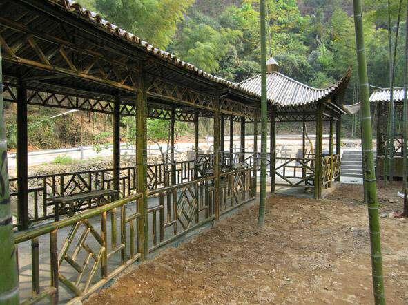 山东竹木建筑:专业的竹长廊提供商—齐晟装饰