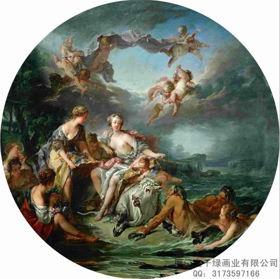 欧式吊顶画丨大型无缝壁画丨上等优质吊顶画丨庞大