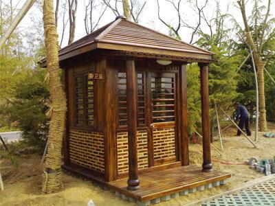 防腐木凉亭|碳化木凉亭