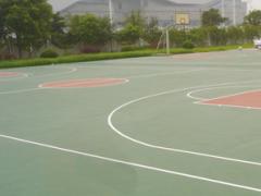 孝感硅PU篮球场:【推荐】武汉畅销的硅聚氨酯面层