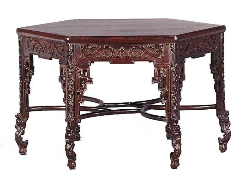 紅木六角桌