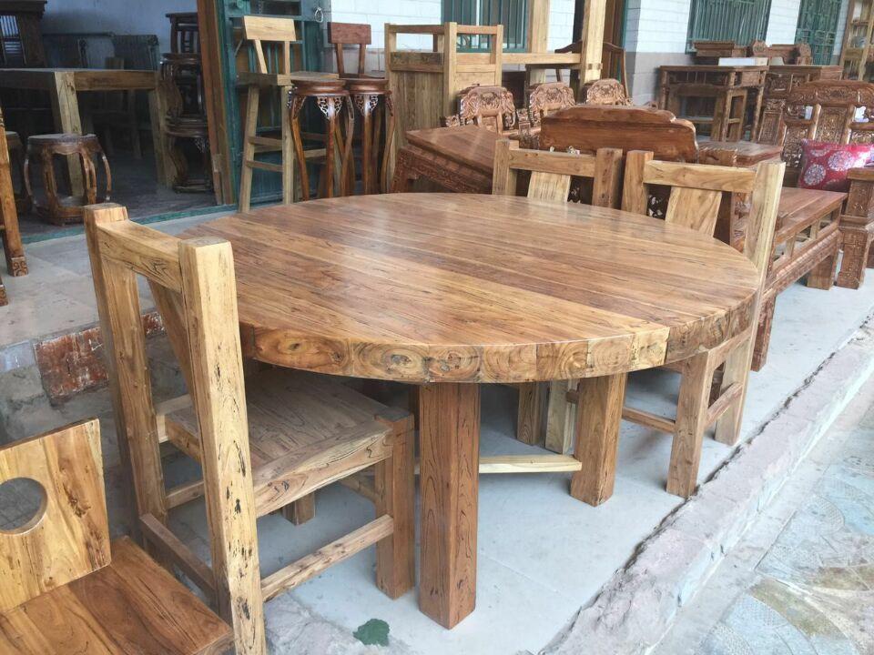 买上等老榆木圆桌,首要选择玉堂春古典家具|重庆太师椅